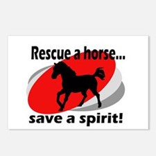 Rescue a Horse, Save a Spirit Postcards (Package o
