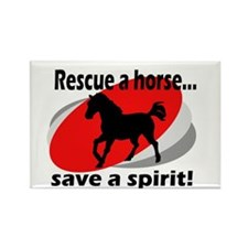 Rescue a Horse, Save a Spirit Rectangle Magnet