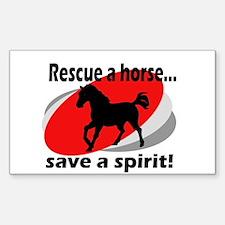 Rescue a Horse, Save a Spirit Sticker (Rectangular