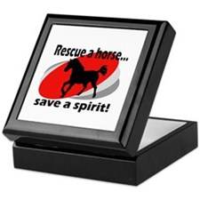 Rescue a Horse, Save a Spirit Keepsake Box