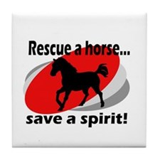 Rescue a Horse, Save a Spirit Tile Coaster