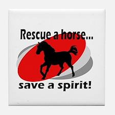 Rescue a Horse, Save a Spirit Tile Coaster