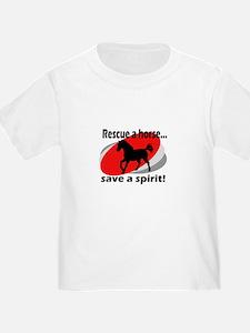 Rescue a Horse, Save a Spirit T