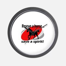 Rescue a Horse, Save a Spirit Wall Clock