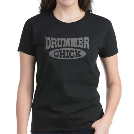 Drummer Chick Women's Dark T-Shirt