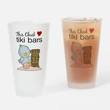 This Chick Loves Tiki Bars Drinking Glass