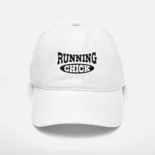 Running Chick Baseball Baseball Cap