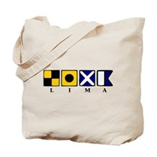 Nautical Lima Tote Bag