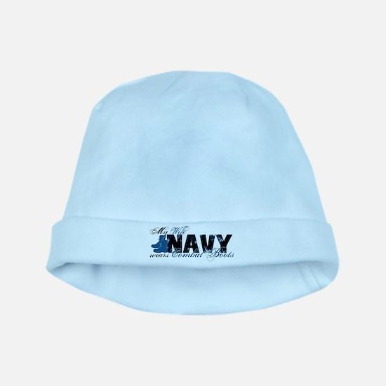 Wife Combat Boots - NAVY baby hat