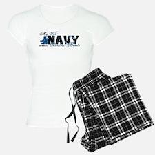 Wife Combat Boots - NAVY Pajamas