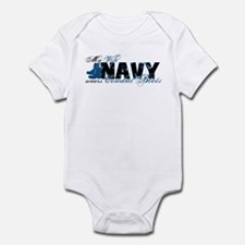Wife Combat Boots - NAVY Infant Bodysuit