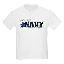 Wife Combat Boots - NAVY T-Shirt