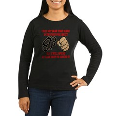 In The Fight For Liberty Women's Long Sleeve Dark