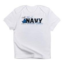 Uncle Combat Boots - NAVY Infant T-Shirt