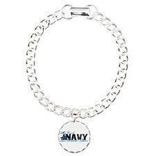 Uncle Combat Boots - NAVY Bracelet