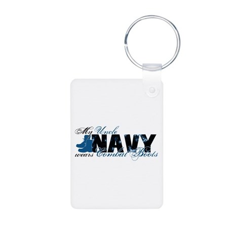 Uncle Combat Boots - NAVY Aluminum Photo Keychain