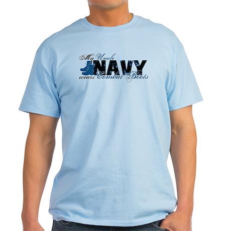Uncle Combat Boots - NAVY Light T-Shirt