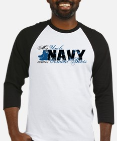 Uncle Combat Boots - NAVY Baseball Jersey