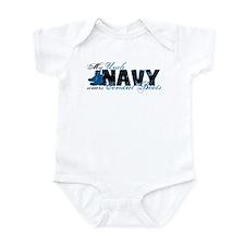 Uncle Combat Boots - NAVY Infant Bodysuit