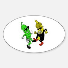 Mustard Pickle Sticker (Oval)