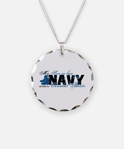 Son law Combat Boots - NAVY Necklace