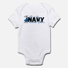 Son law Combat Boots - NAVY Infant Bodysuit