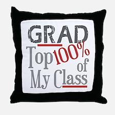 Funny GRAD Top 100% Throw Pillow