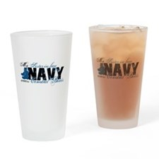 Sis Law Combat Boots - NAVY Drinking Glass