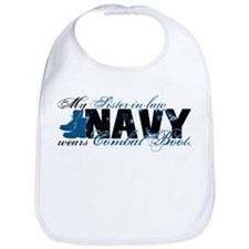 Sis Law Combat Boots - NAVY Bib