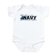 Sis Law Combat Boots - NAVY Infant Bodysuit