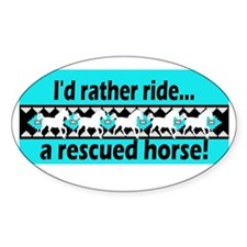 Horse Rescue Oval Decal