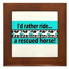 Horse Rescue Framed Tile