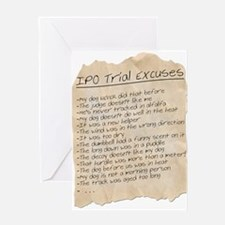IPO Trial Excuses Greeting Card