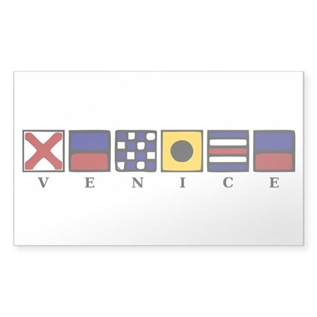 Nautical Venice Sticker (Rectangle 50 pk)