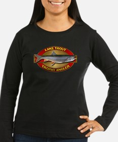 Women's Long Sleeve Trophy Lake Trout Dark T-Shirt