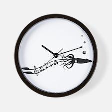 Musical Squid Wall Clock
