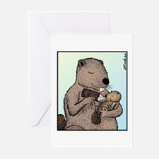 Mother Beaver and Baby Greeting Cards (Pk of 10)