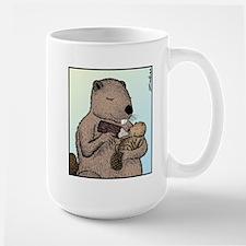 Mother Beaver and Baby Large Mug