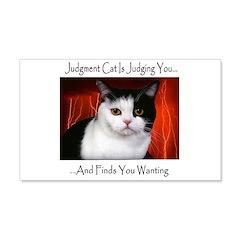 Judgment Cat 22x14 Wall Peel