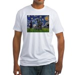 StarryNight-Scotty#1 Fitted T-Shirt