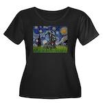 StarryNight-Scotty#1 Women's Plus Size Scoop Neck