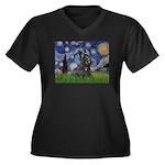 StarryNight-Scotty#1 Women's Plus Size V-Neck Dark