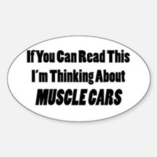 Thinking About Muscle Cars Decal