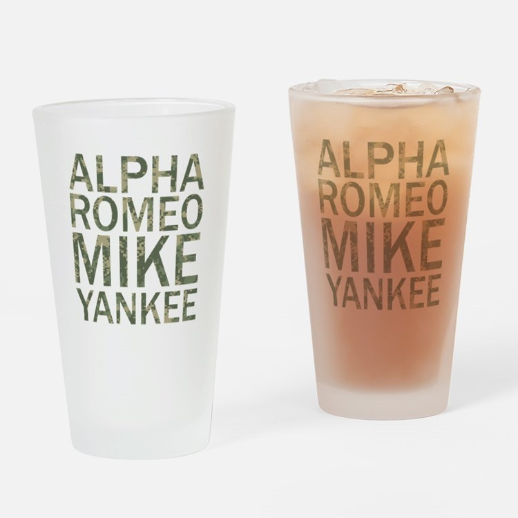 ARMY-Camo Drinking Glass