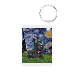 StarryNight-Scotty#1 Aluminum Photo Keychain
