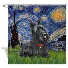 StarryNight-Scotty#1 Shower Curtain