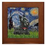 StarryNight-Scotty#1 Framed Tile