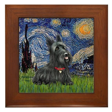 StarryNight-Scotty#1 Framed Tile