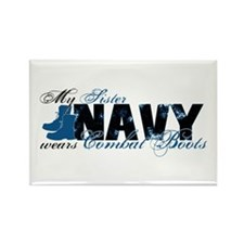 Sis Combat Boots - NAVY Rectangle Magnet