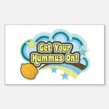 Get Your Hummus On Sticker (Rectangle)